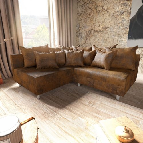 DELIFE Ecksofa Clovis Braun Antik Optik Ottomane Links Modulsofa, Design Ecksofas, Couch Loft, Modulsofa, modular