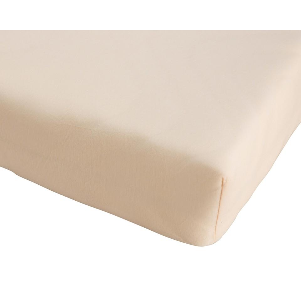 Kinder-Jersey-Spannbettlaken (70x140, beige)