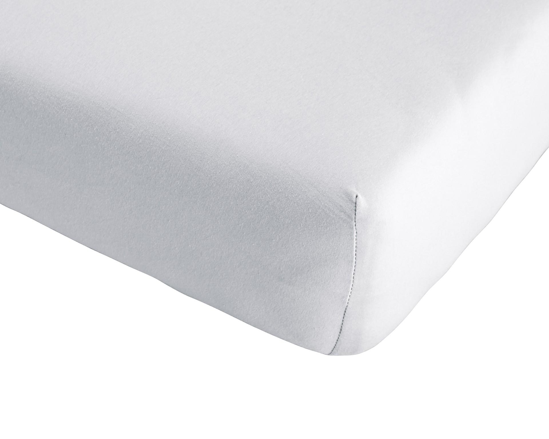 Single-Jersey-Spannbettlaken Quality (180-200x200, weiß)