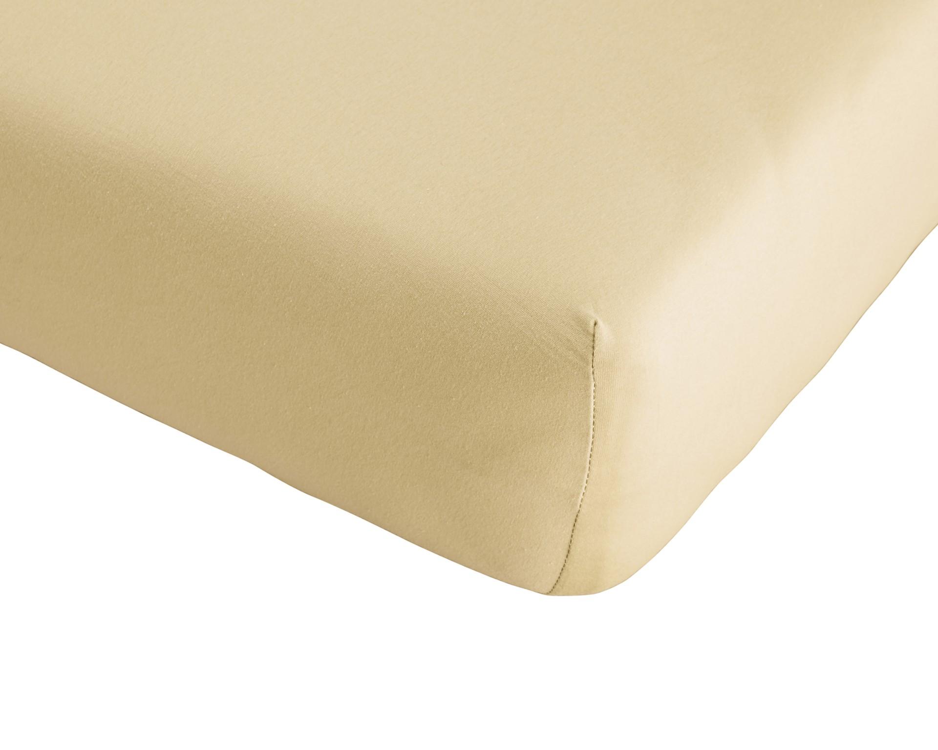 Single-Jersey-Spannbettlaken Quality (180-200x200, beige)