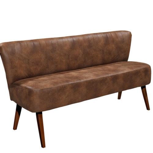 DELIFE Sitzbank Mycroft 180x70 Braun Vintage Optik Beine dunkel, Bänke
