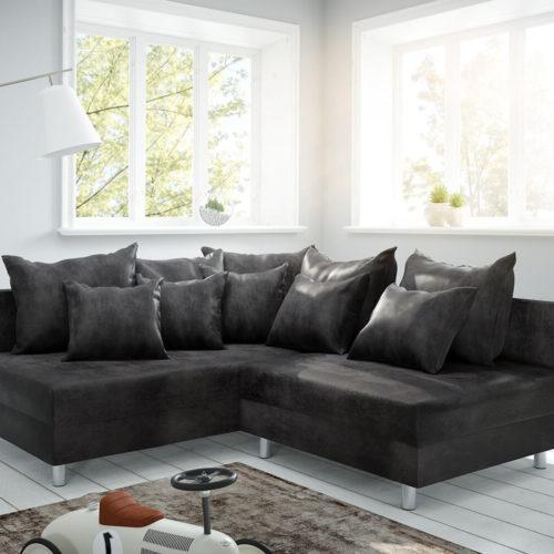 DELIFE Ecksofa Clovis Anthrazit Antik Optik Ottomane Links Modulsofa, Design Ecksofas, Couch Loft, Modulsofa, modular
