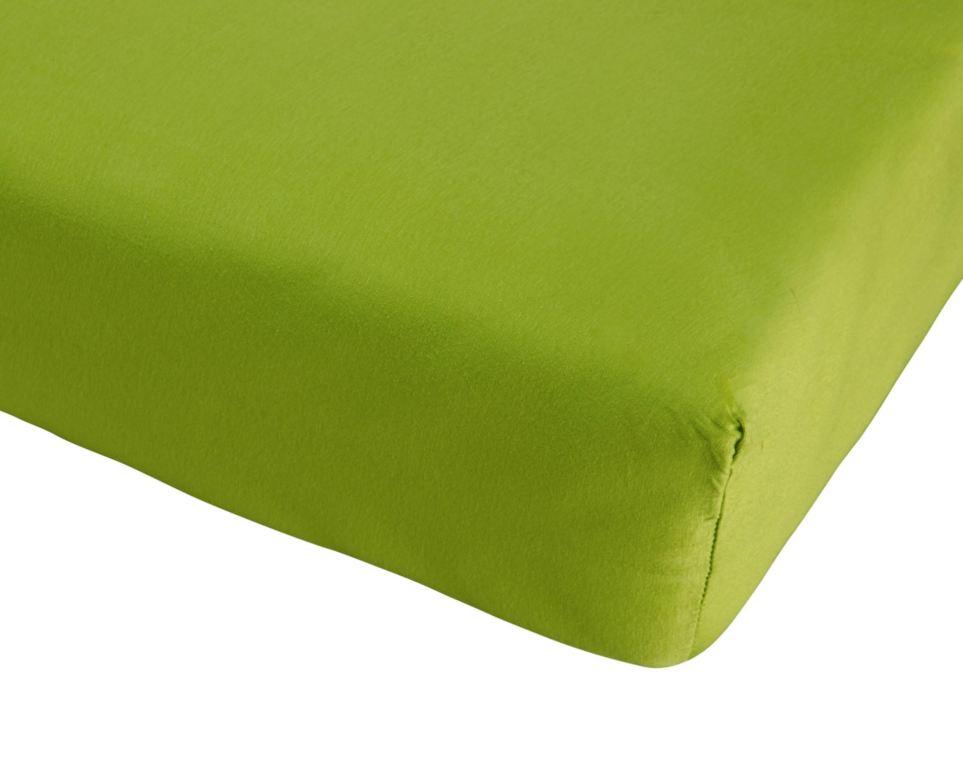 Jersey-Spannbettlaken (180x200, grün)
