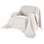 Sofaüberwurf Karo (180x250, taupe)