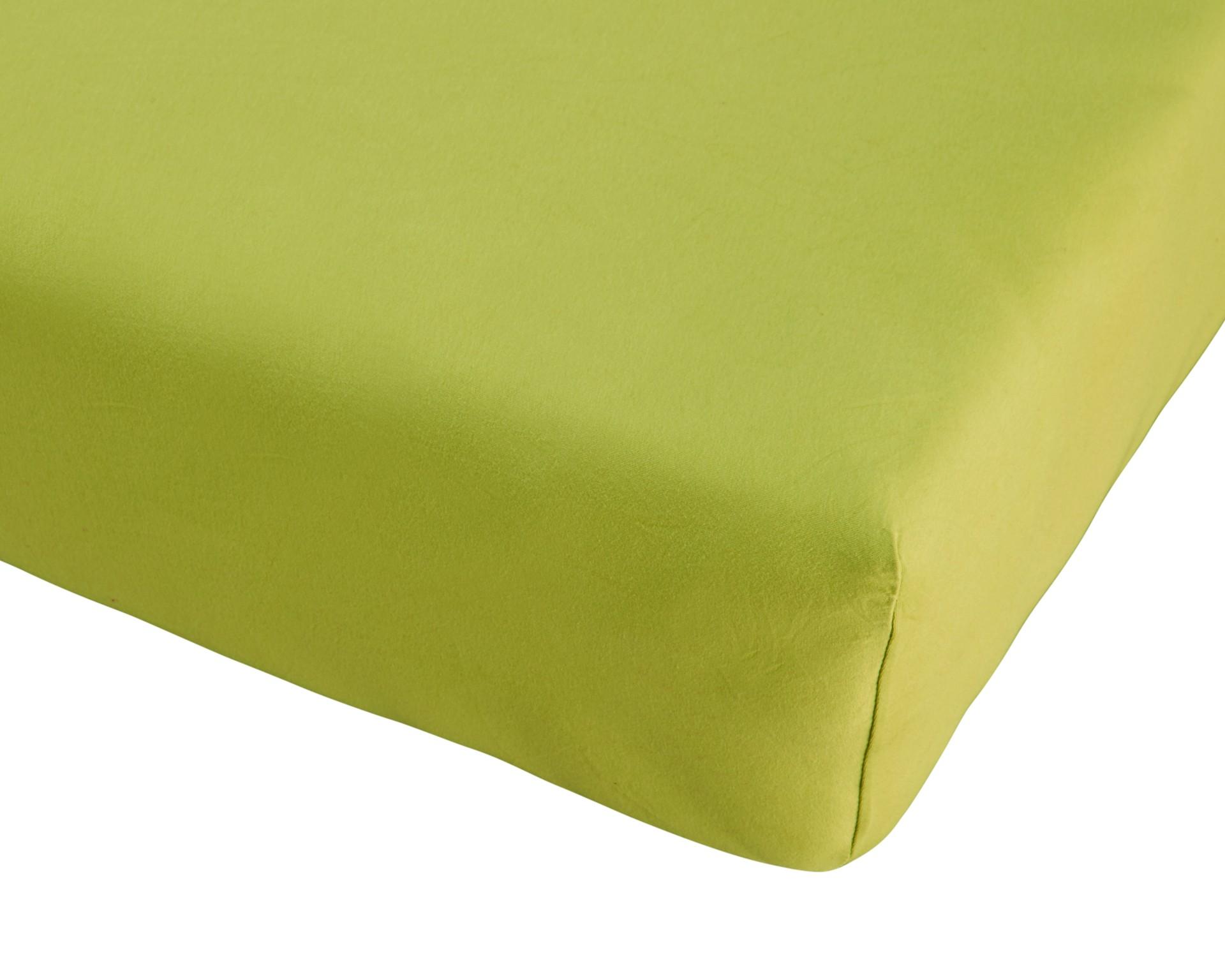 Jersey-Spannbettlaken Exklusiv (140-150x190-220, lindgrün)