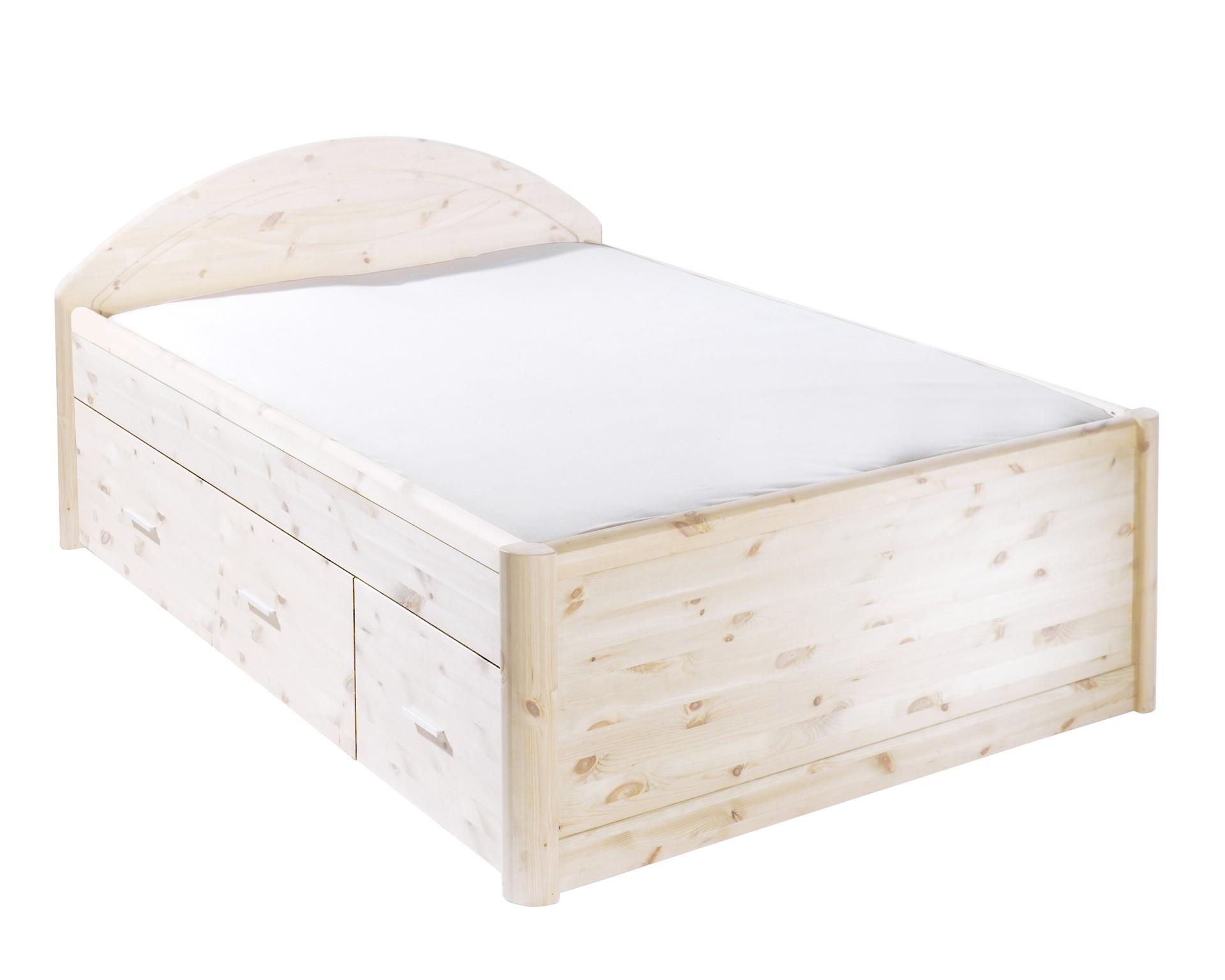 Bett Tina (140x200, weiß lackiert)
