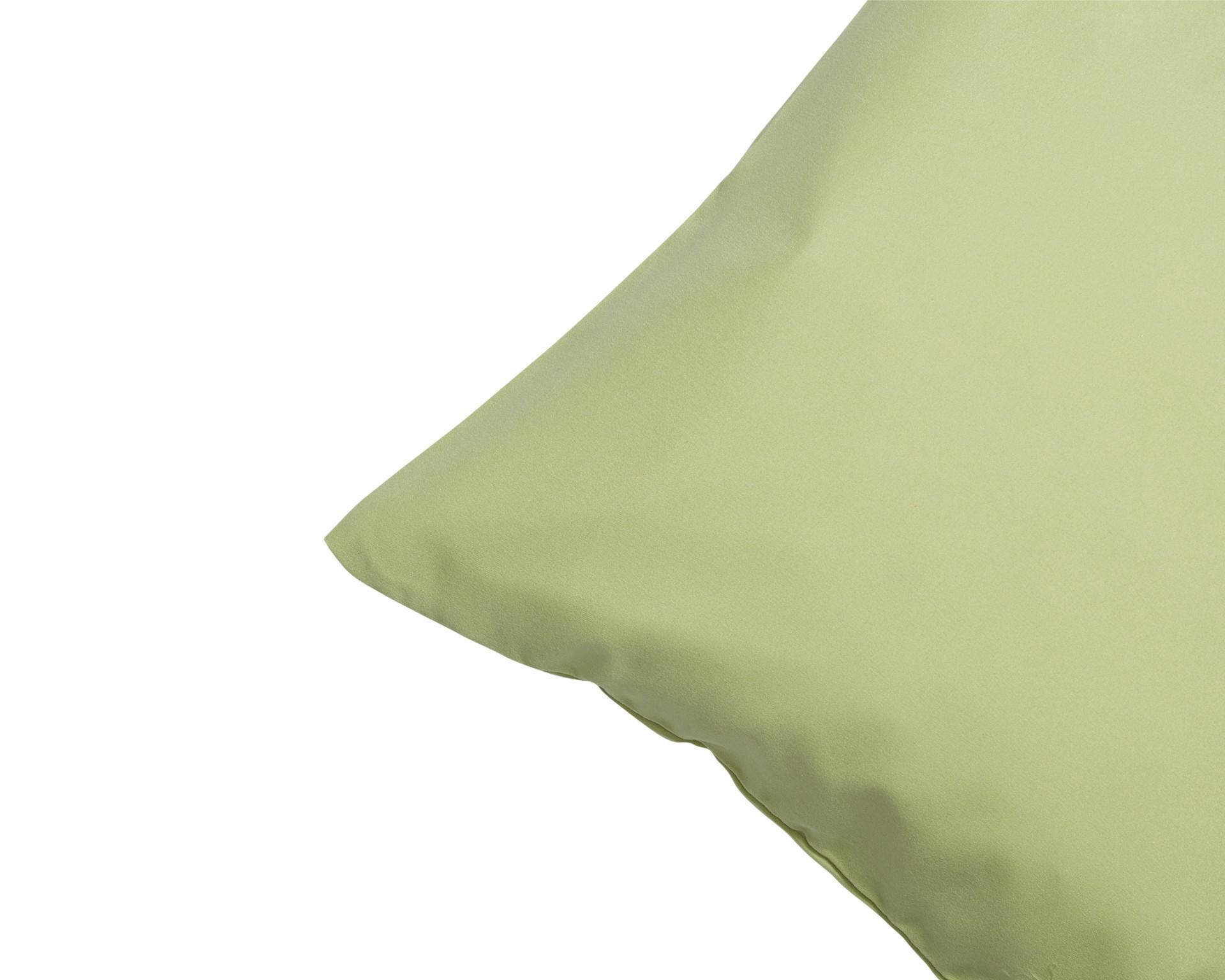 Microfaser-Zierkissenbezug (80x80, grün)