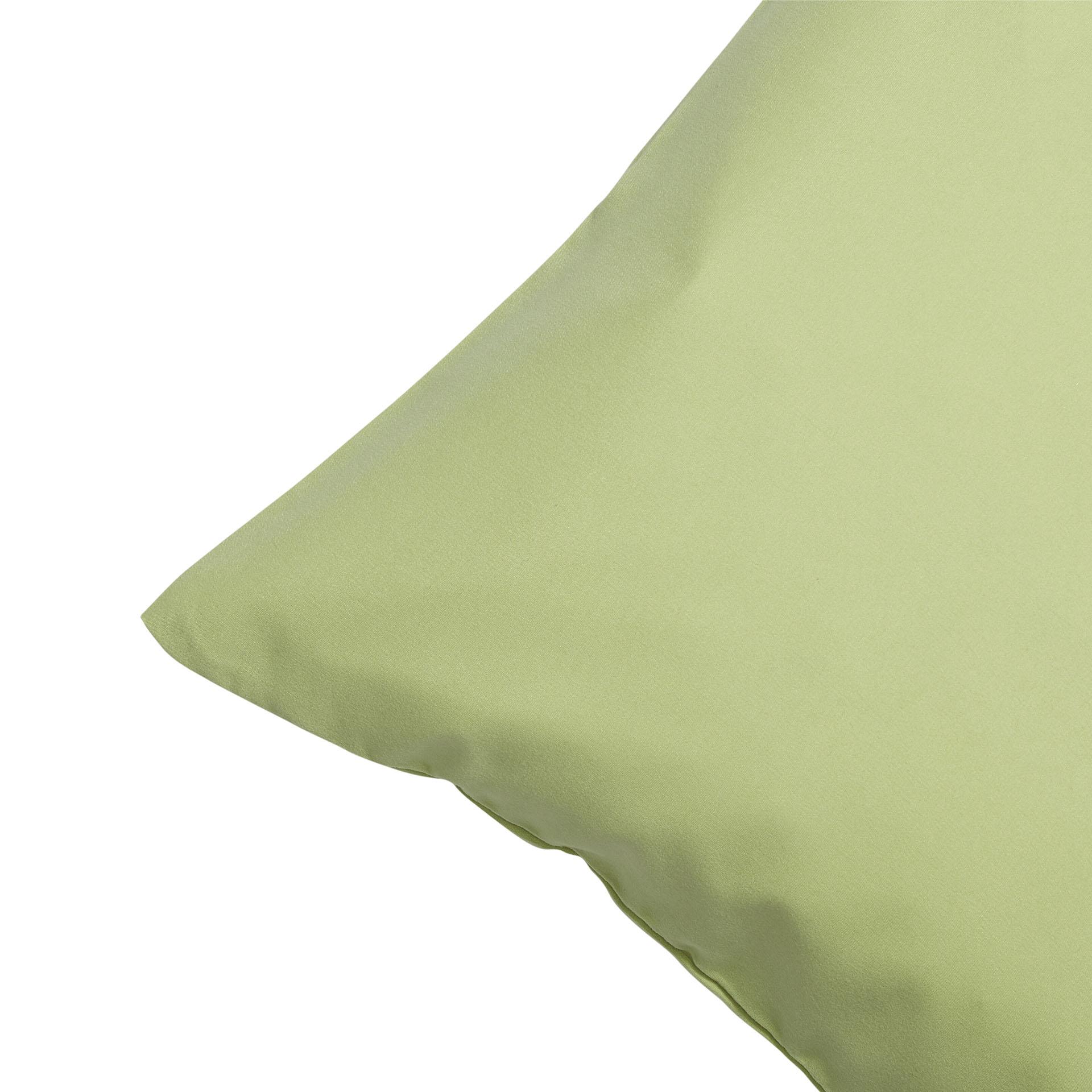 Microfaser-Zierkissenbezug (50x50, grün)