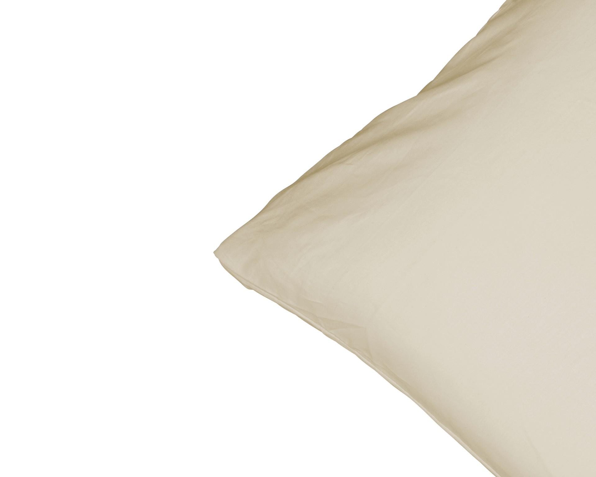 Satin-Zierkissenbezug (40x60, beige)