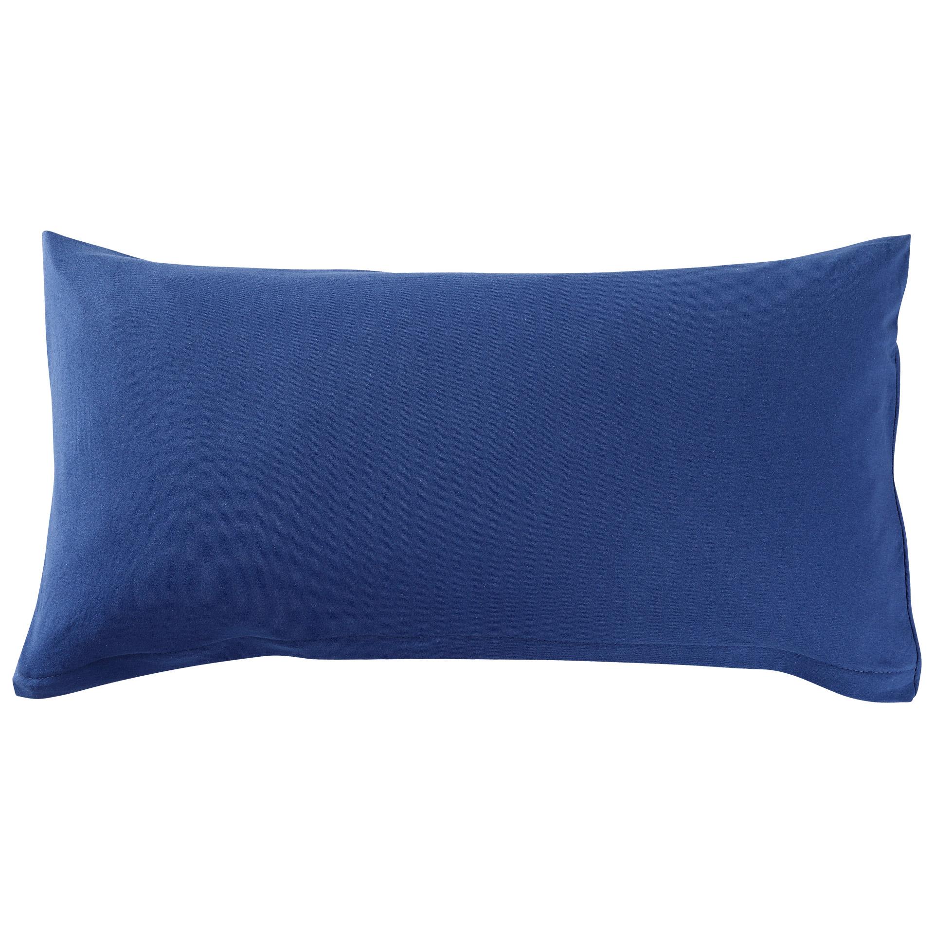 Fein-Jersey-Kissenbezug (40x80, marineblau)