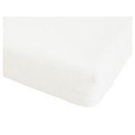 Microfleece-Spannbettlaken (90-100x200, weiß)