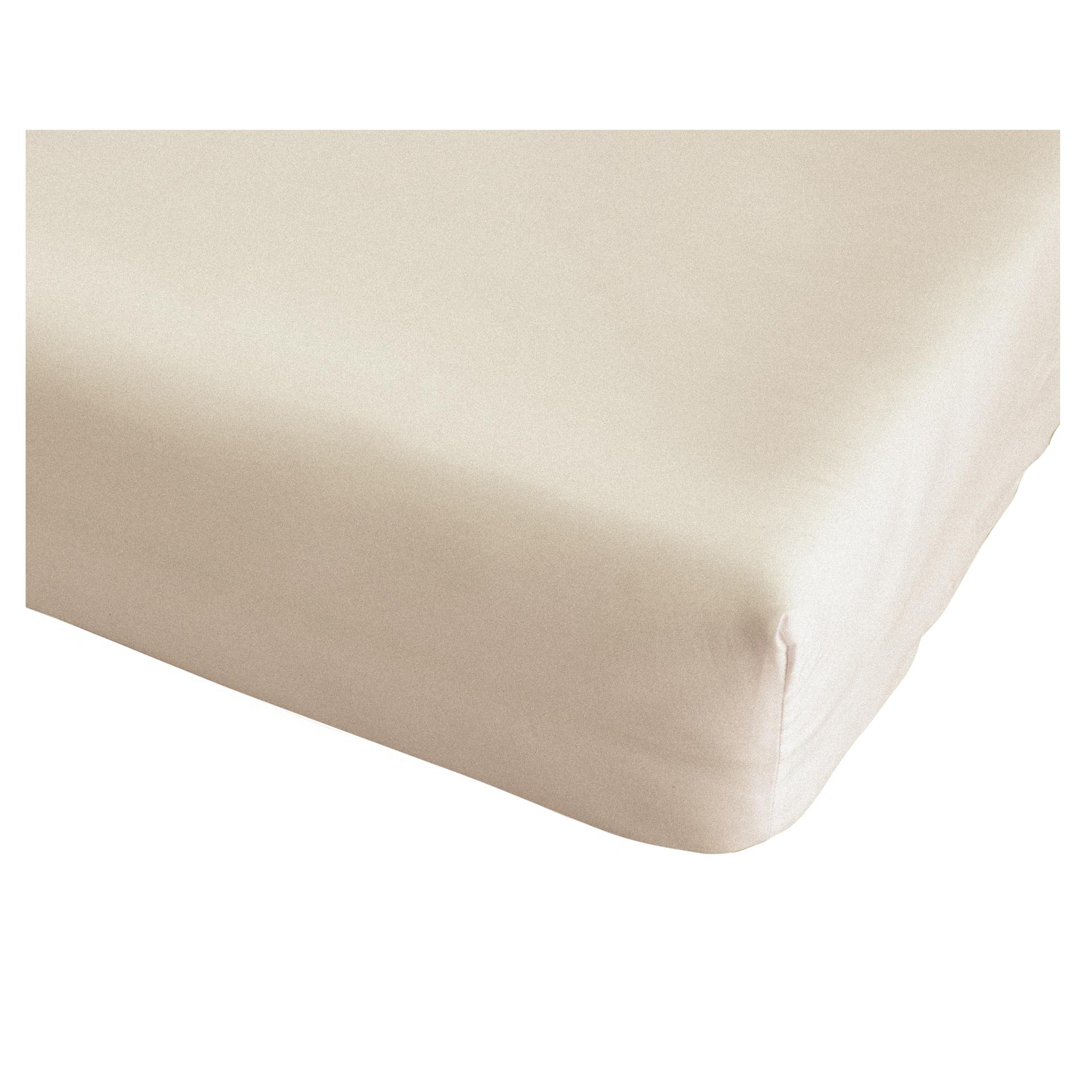 Microfleece-Spannbettlaken (90-100x200, beige)