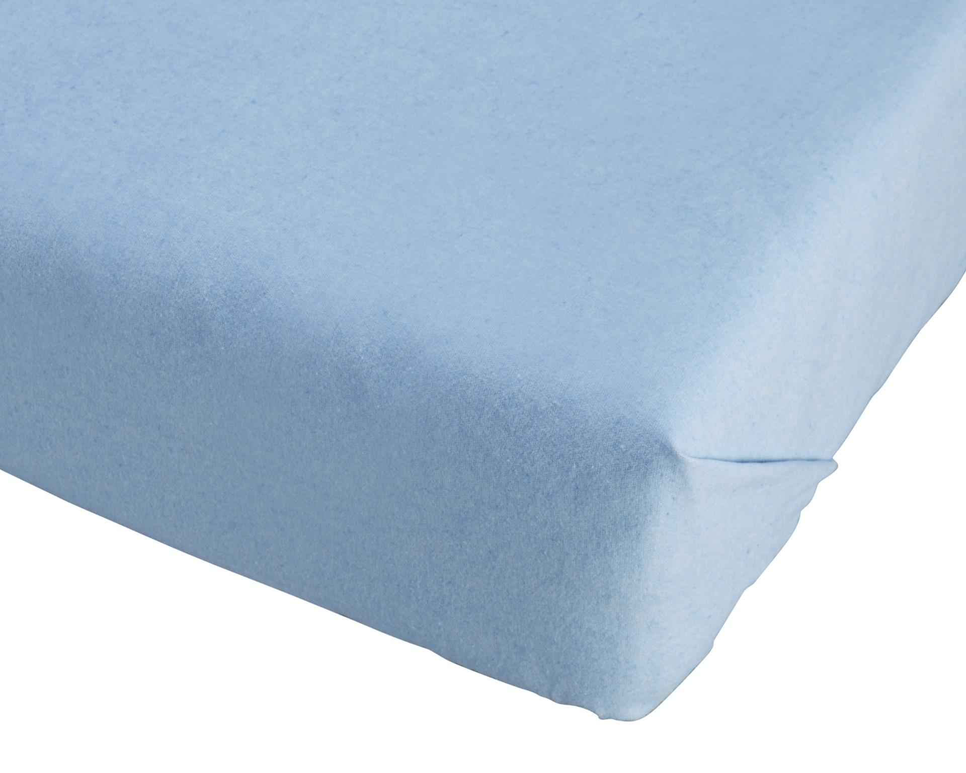 Biber-Bettlaken (150x250, blau)
