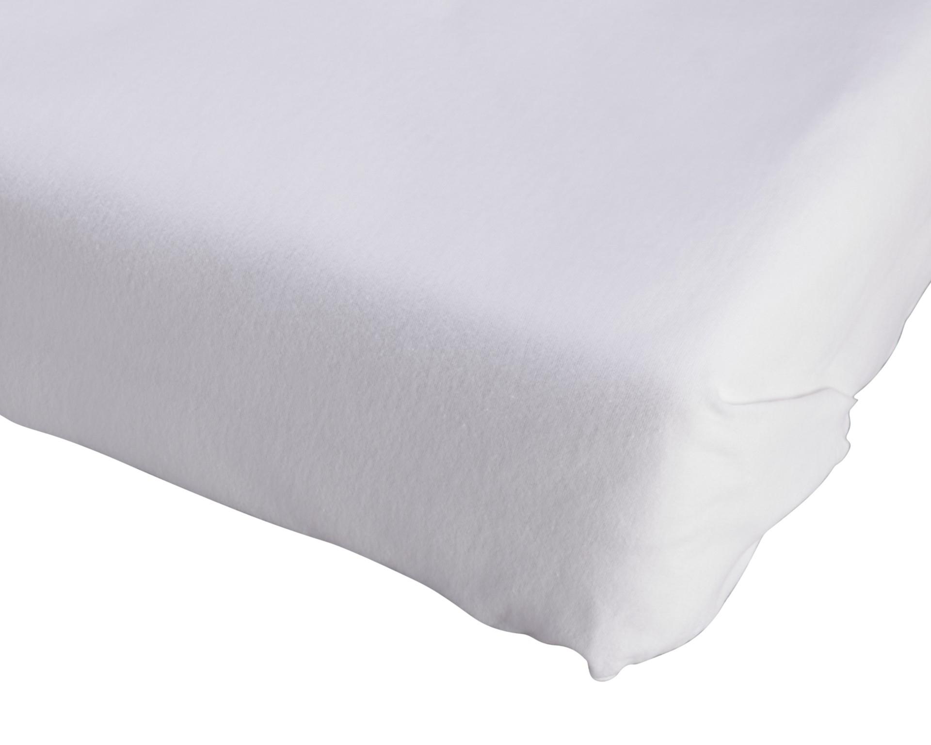 Biber-Bettlaken (150x250, weiß)