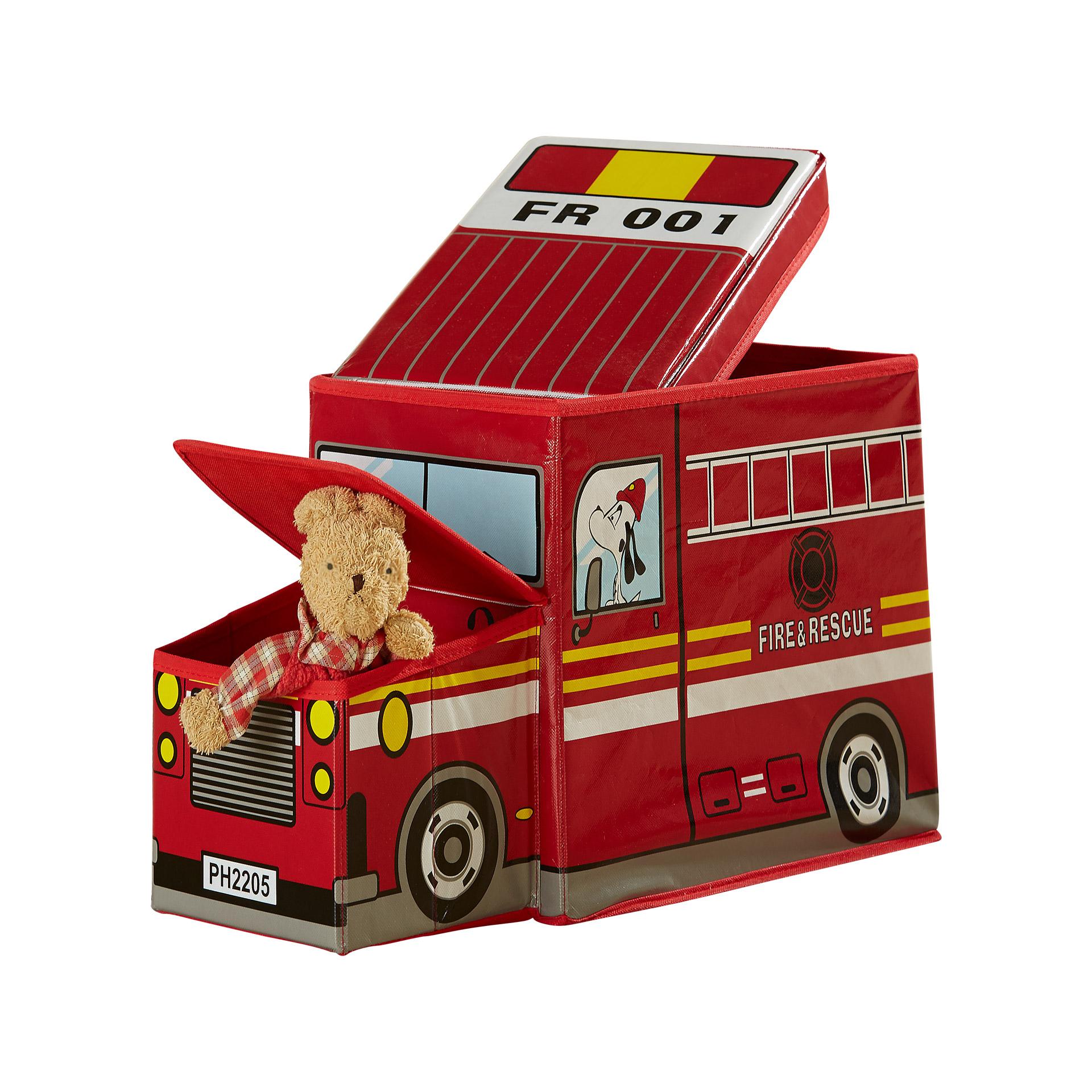 Sitzbox Feuerwehrauto (rot)