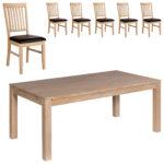 Essgruppe Nordic Oak (175x95, 6 Stühle)