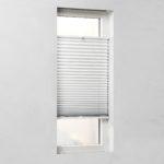 Verdunkelungs-Plissee, fest verspannt (45x130, weiß)