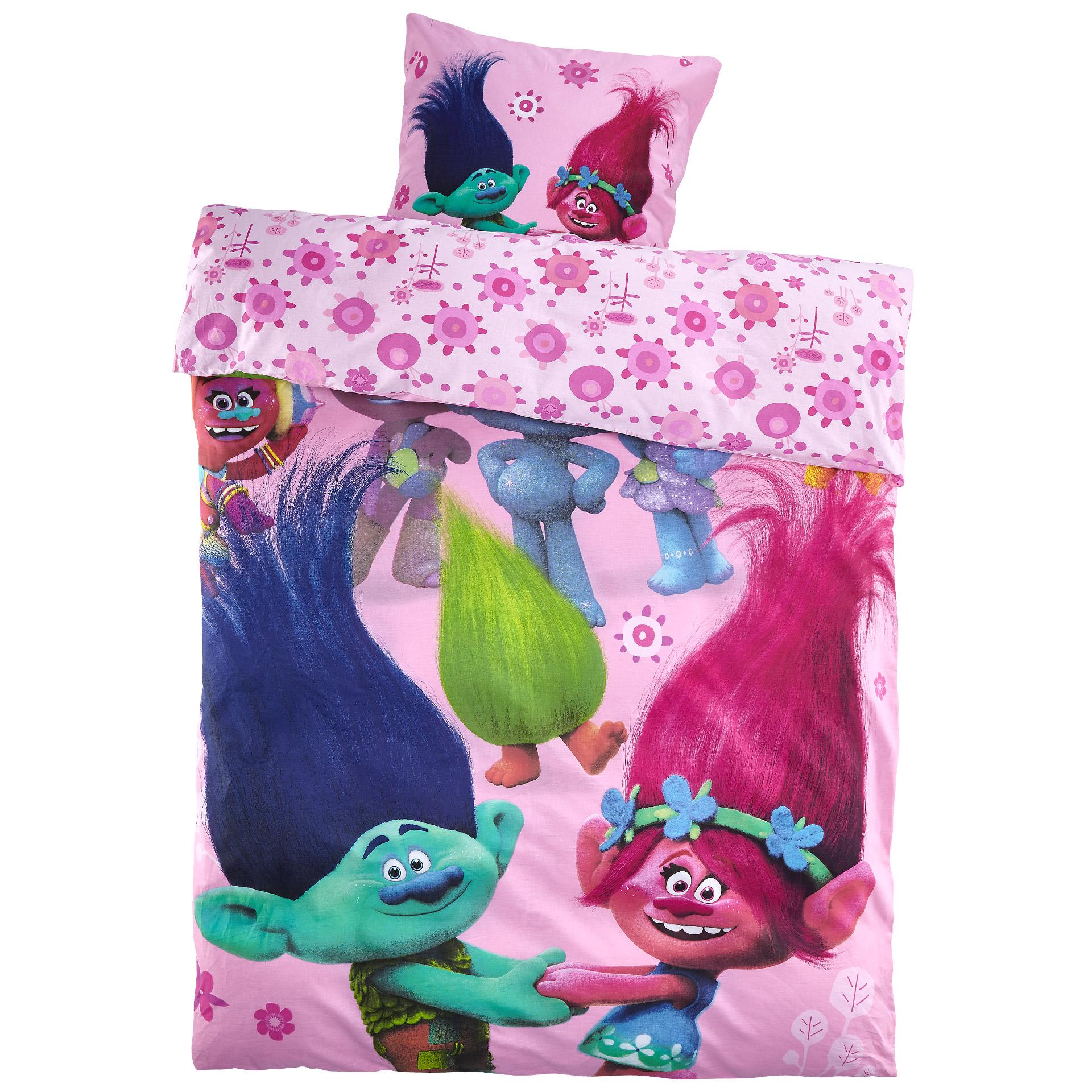 Kinderbettwäsche Trolls (135x200)