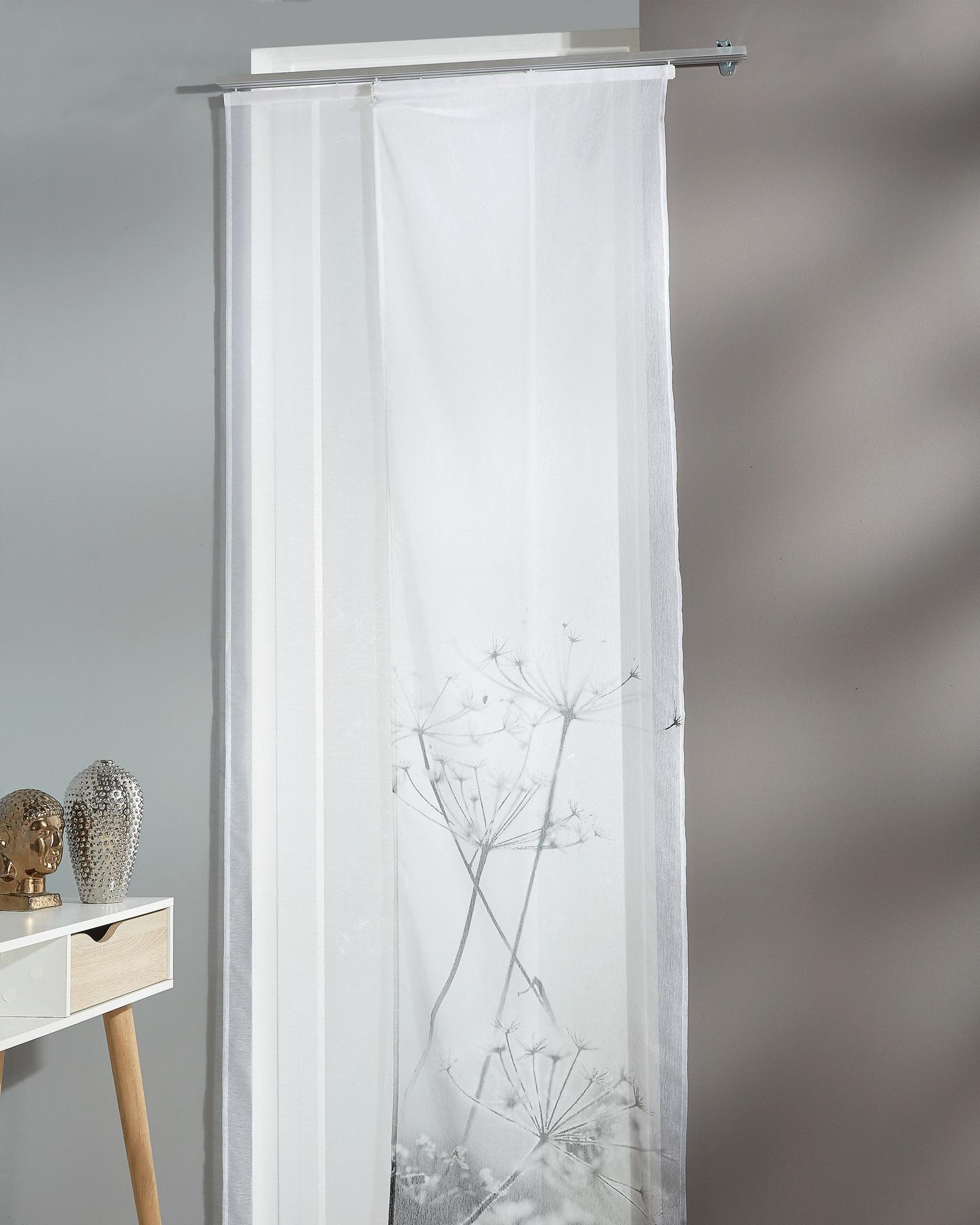Flächenvorhang Pusteblume (60x245, 2er-Set, weiß)