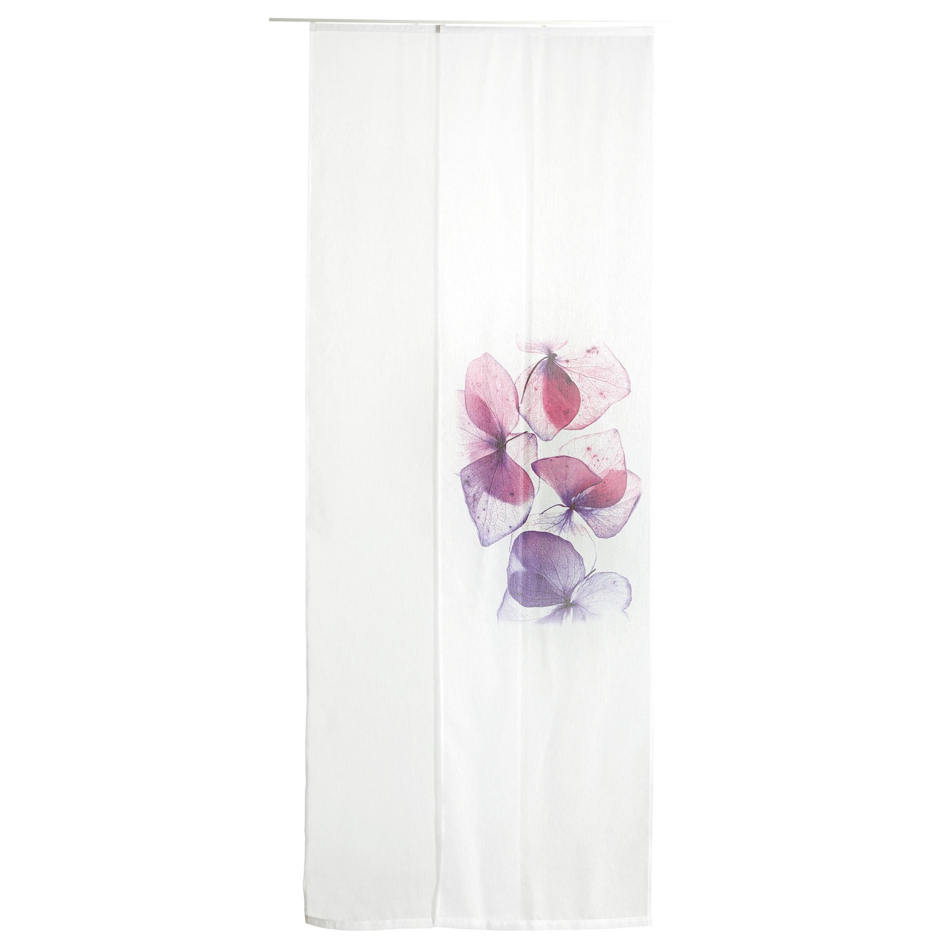 Flächenvorhang Blume (60x245, 2er-Set, weiß)
