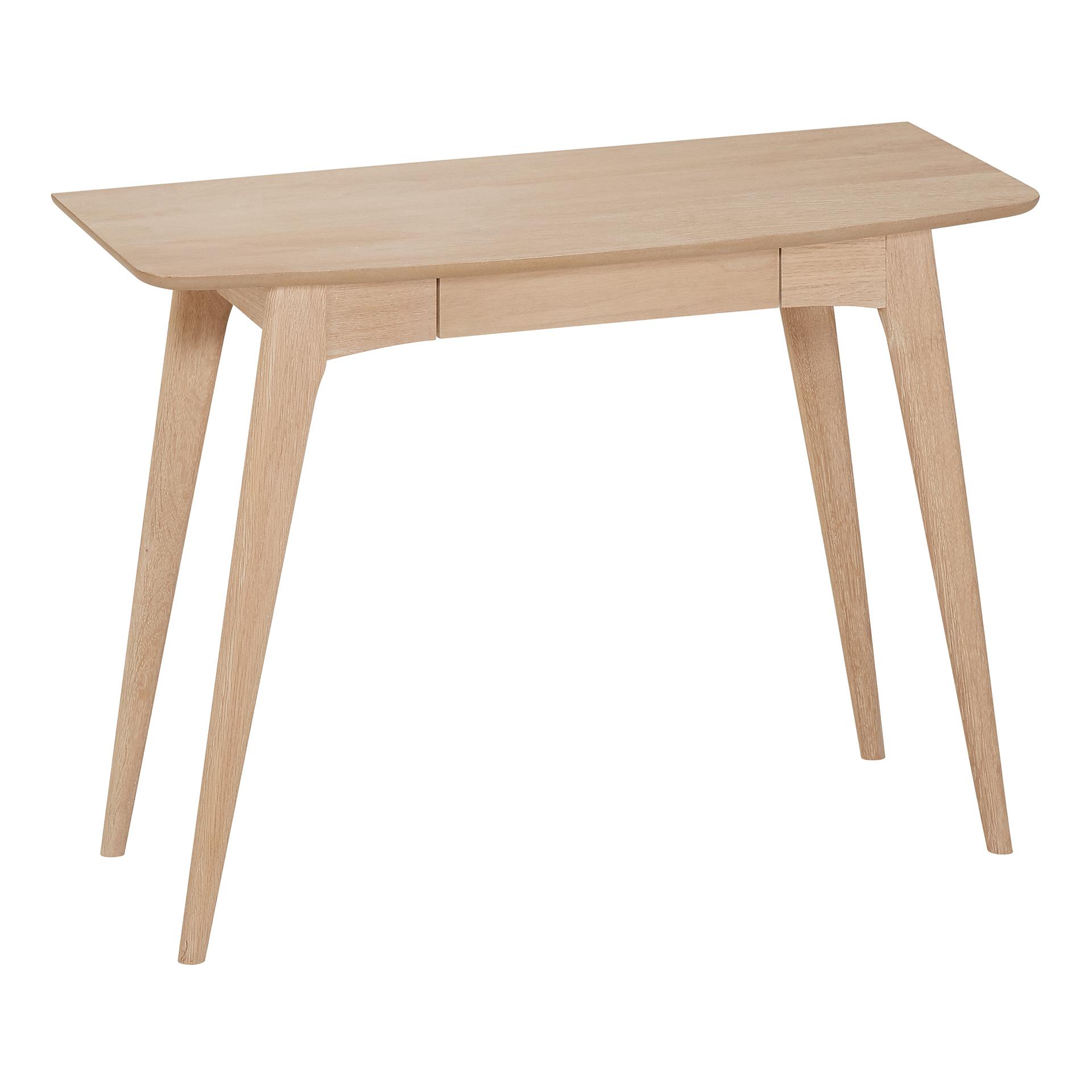 Schreibtisch Gadbjerg (45x105, Eiche, schmal, Schublade)