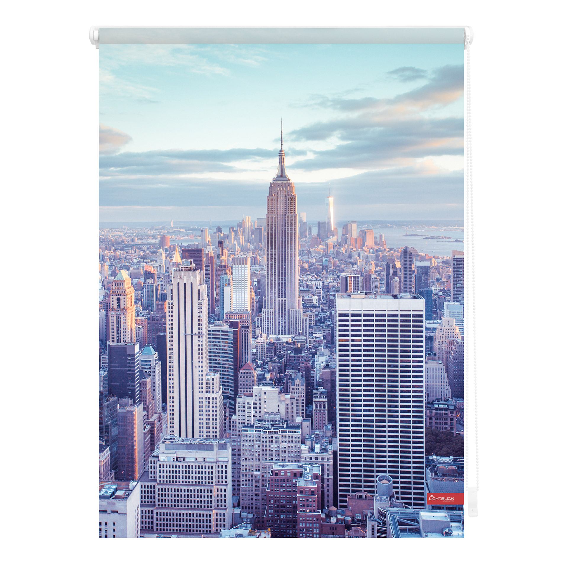 Klemmfix Rollo New York (100x150, blau)