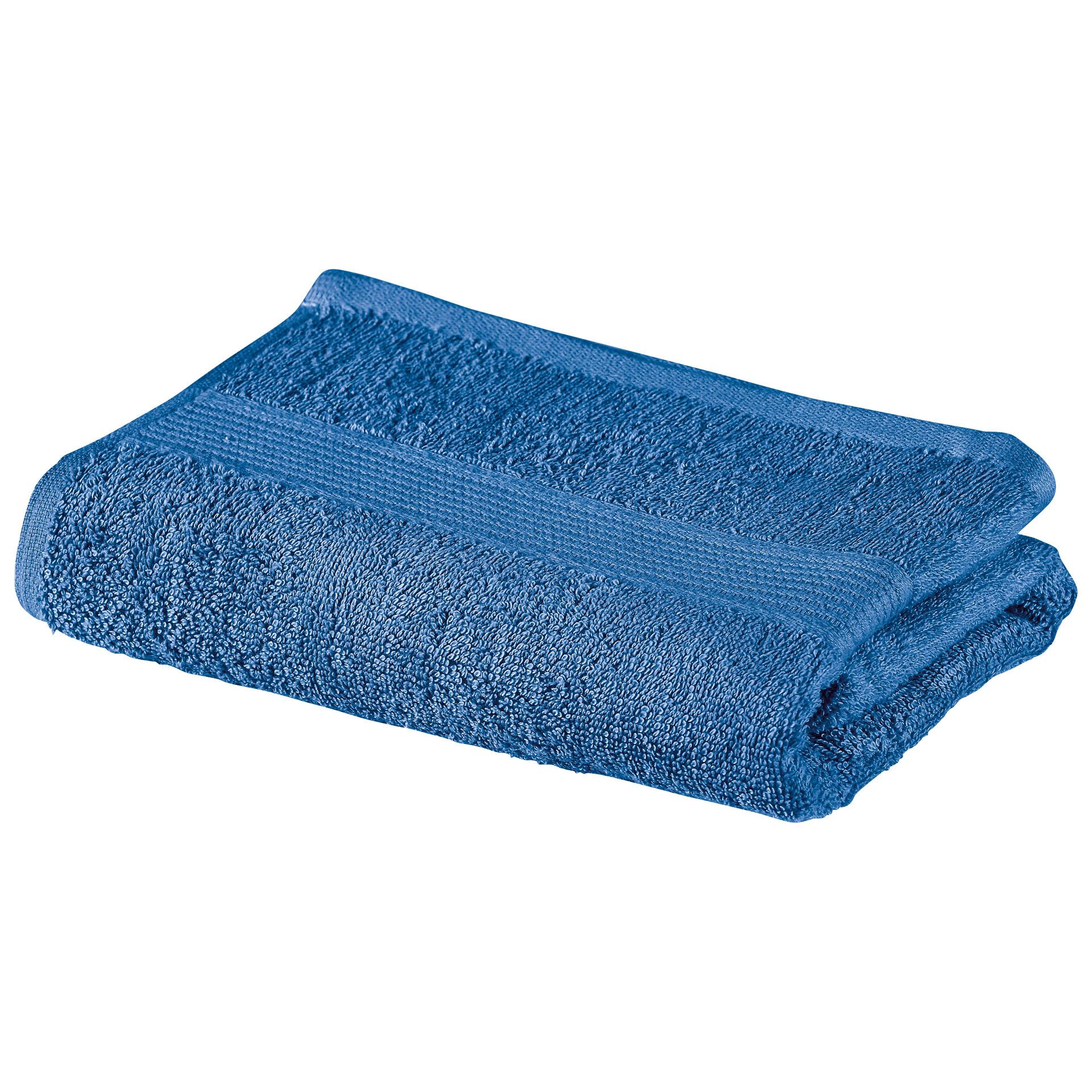 Handtuch KRONBORG® Classic Line (50x100, blau)