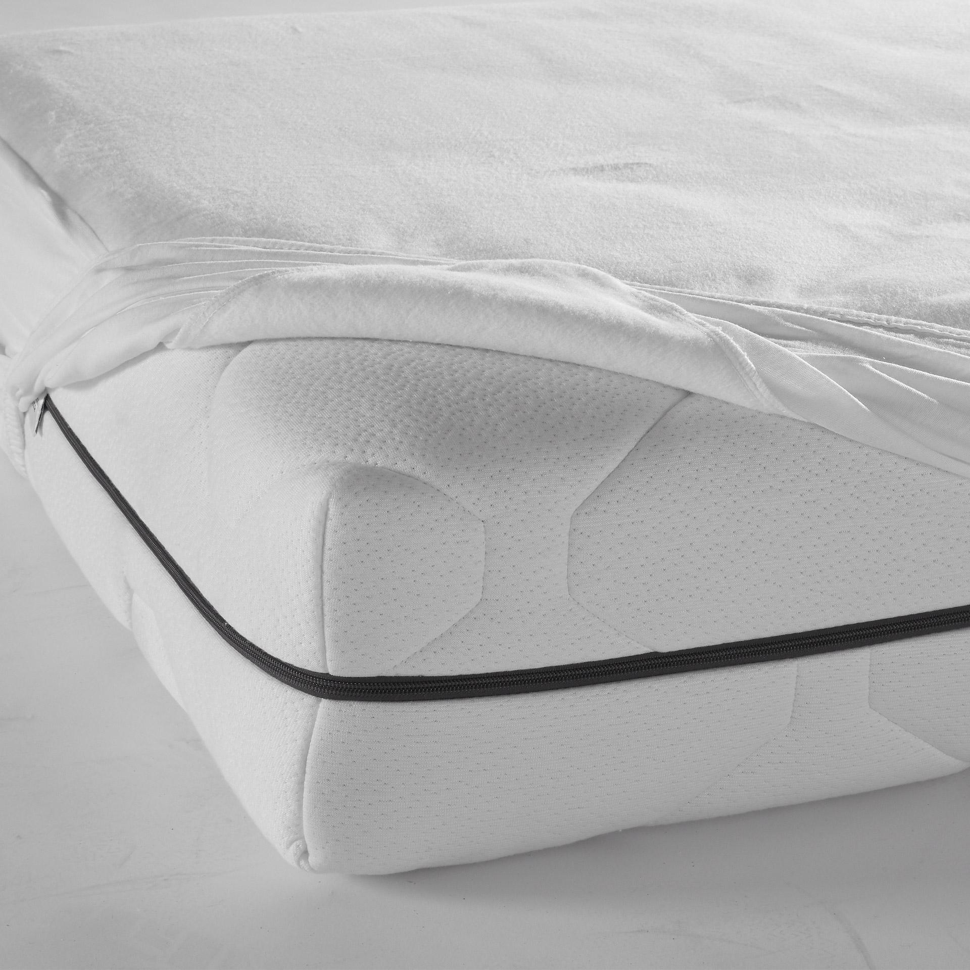Molton-Matratzenauflage mit Rundum-Gummizug (160x200, kochfest)