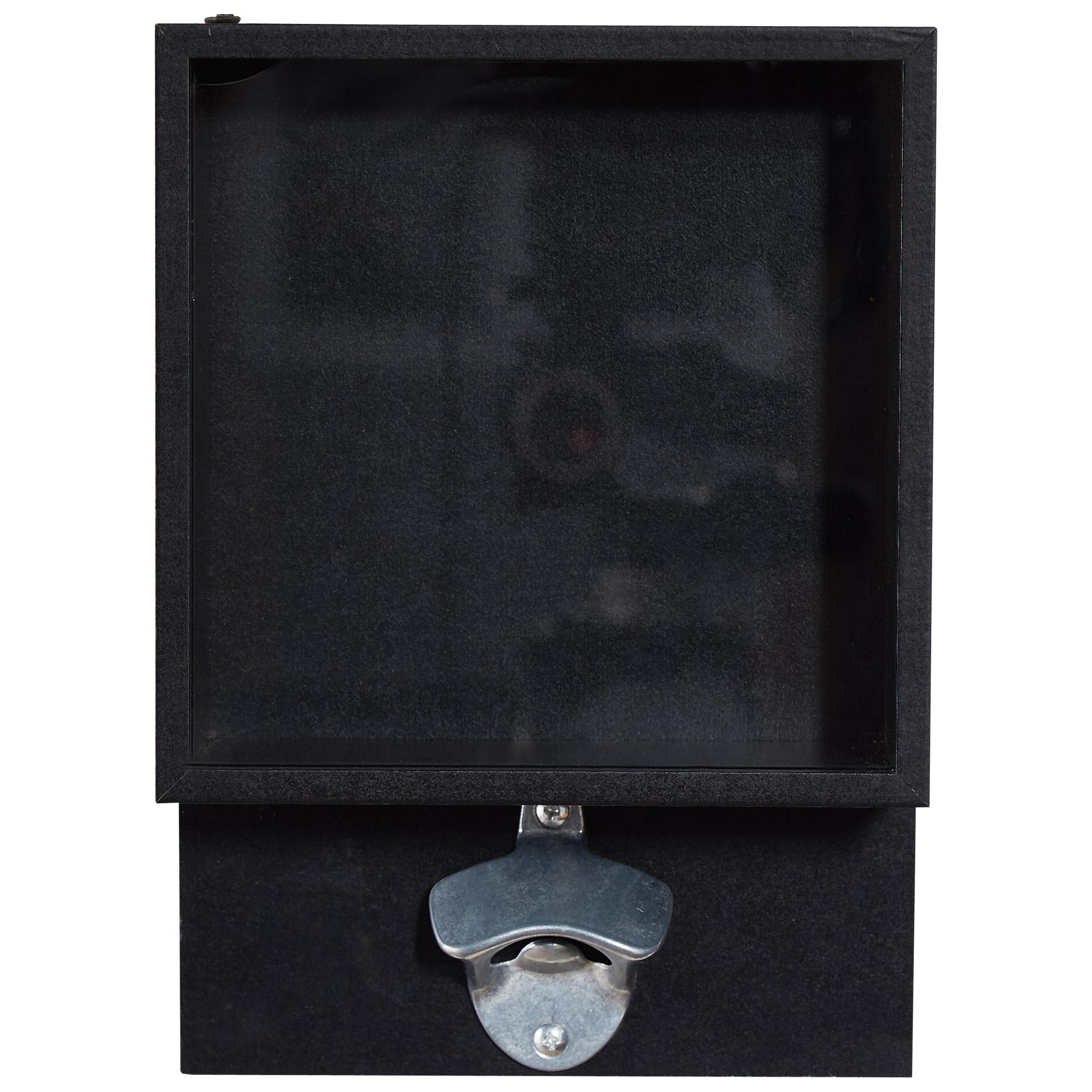 Flaschenöffner mit Glaskasten (25,5x18, schwarz)