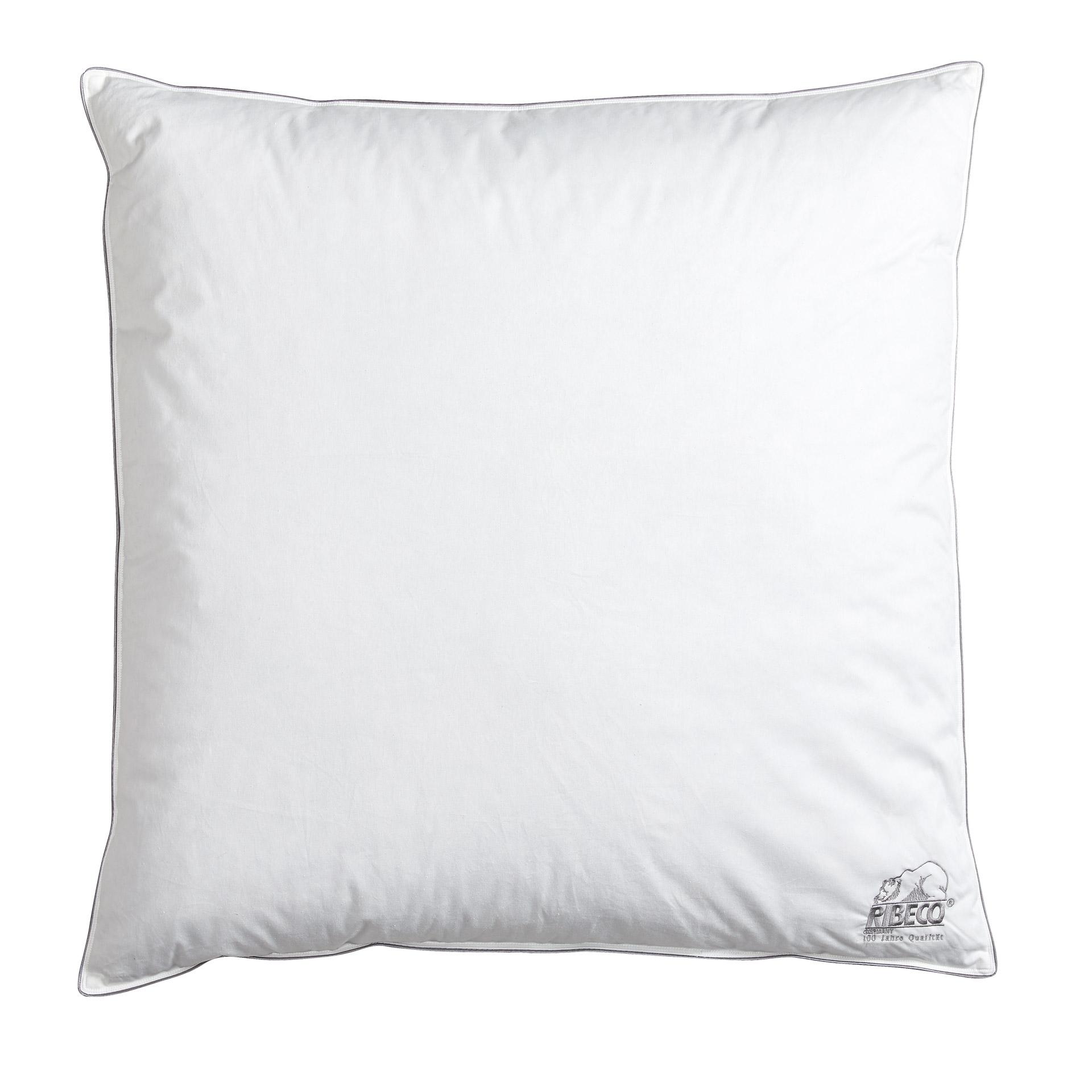 RIBECO® Federkopfkissen (80x80, weiß, 900g)