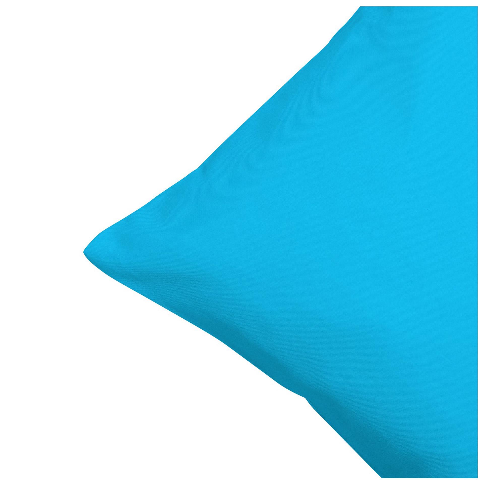 Satin-Zierkissenbezug (50x50, eisblau)