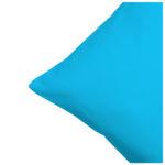 Satin-Zierkissenbezug (40x40, eisblau)