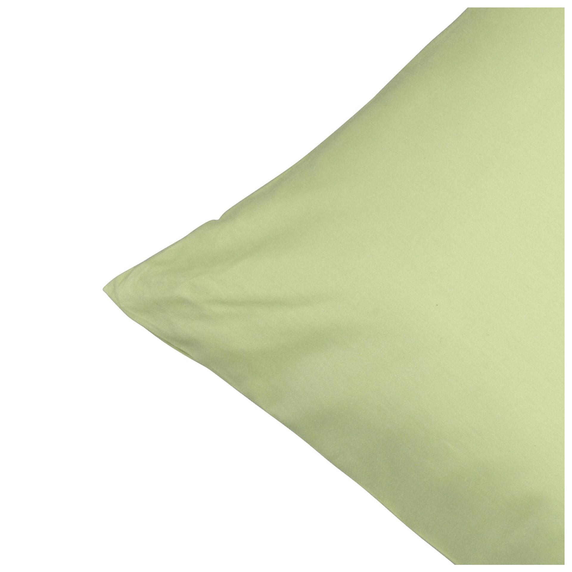 Satin-Zierkissenbezug (40x80, grün)