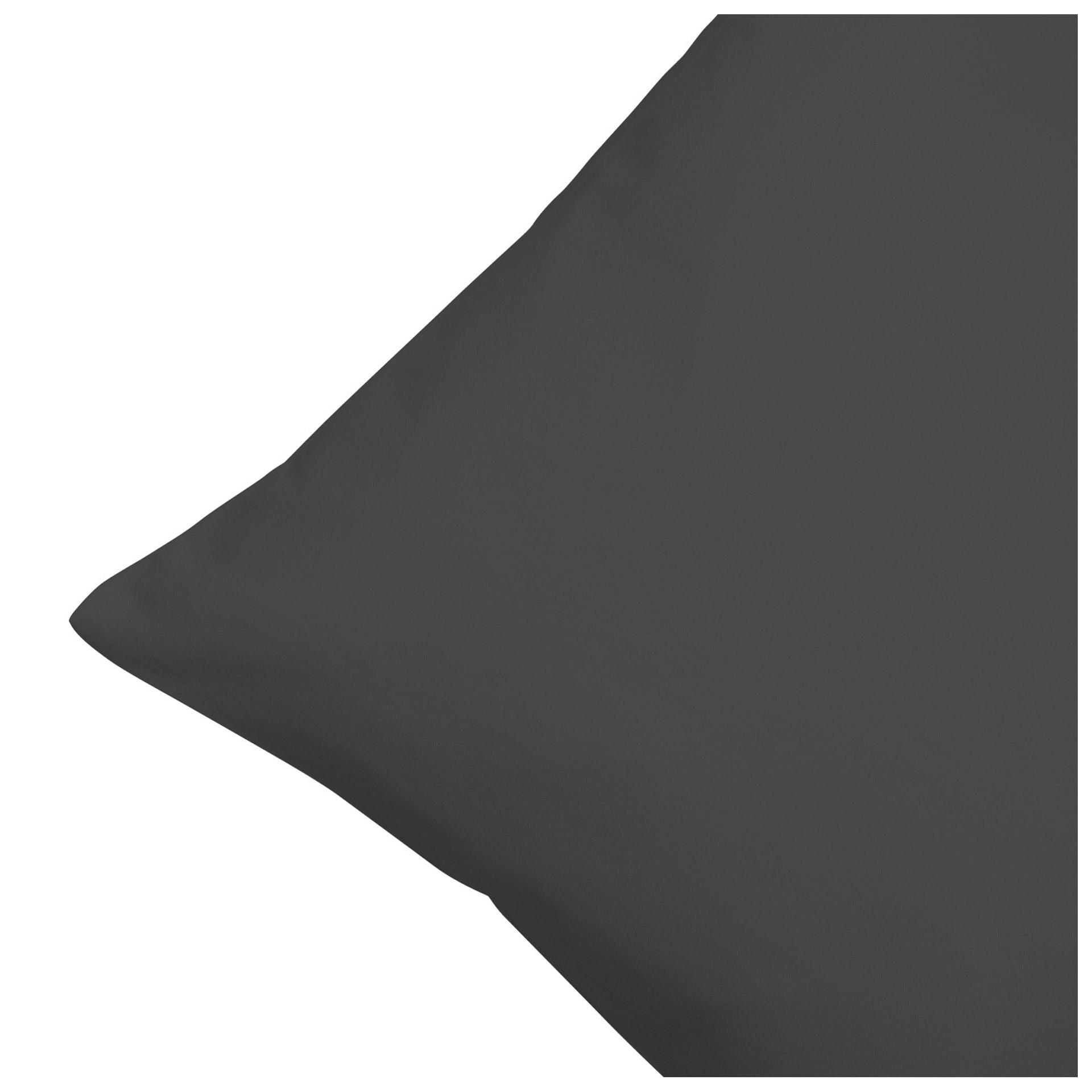 Satin-Zierkissenbezug (40x80, anthrazit)