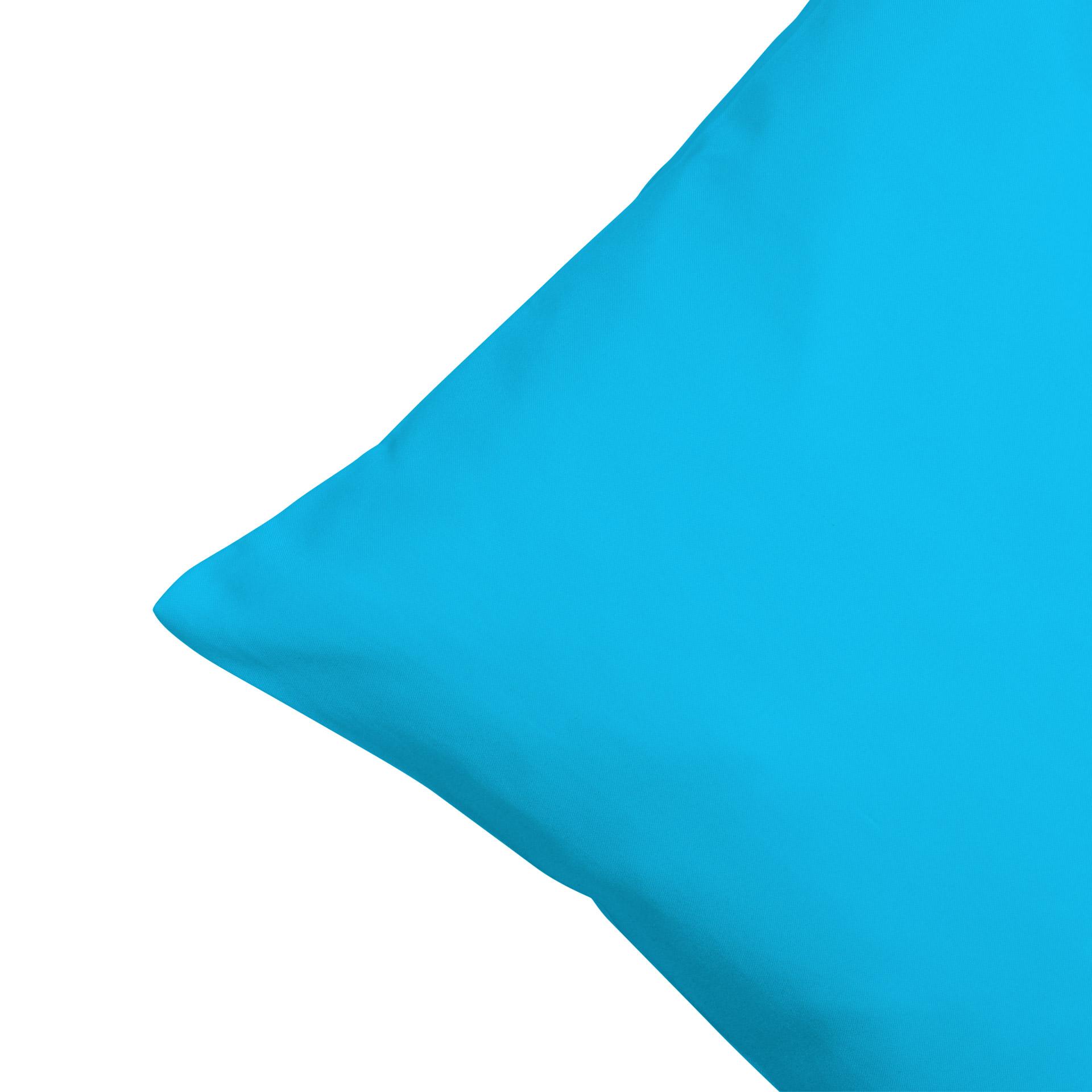 Microfaser-Zierkissenbezug (50x50, eisblau)