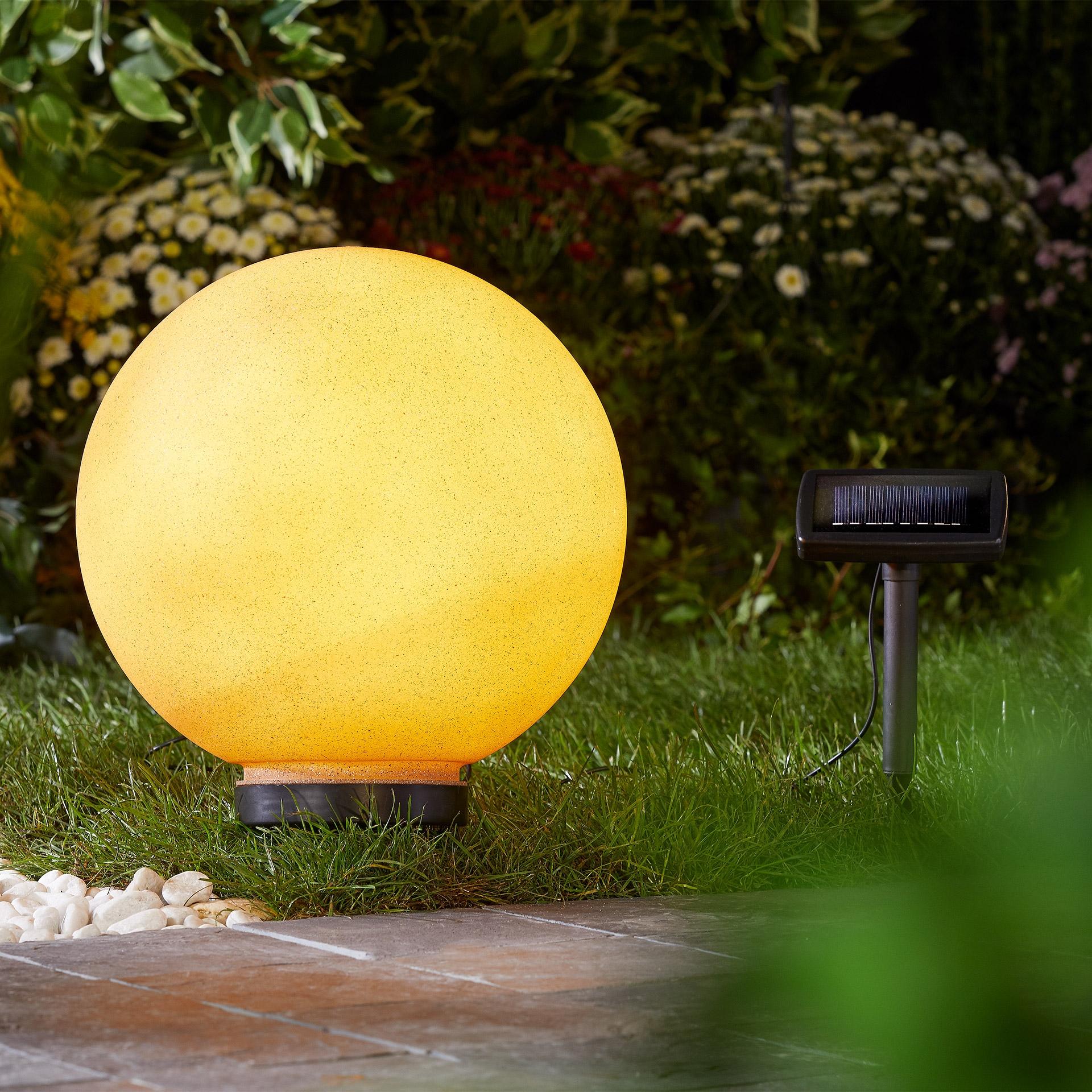 Kugel-Solarleuchte (ø 30 cm, terracotta)
