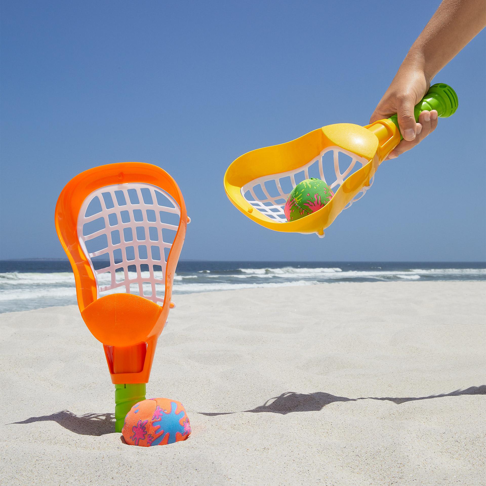 Beachlacrosse-Set (2 Schläger, 2 Bälle)