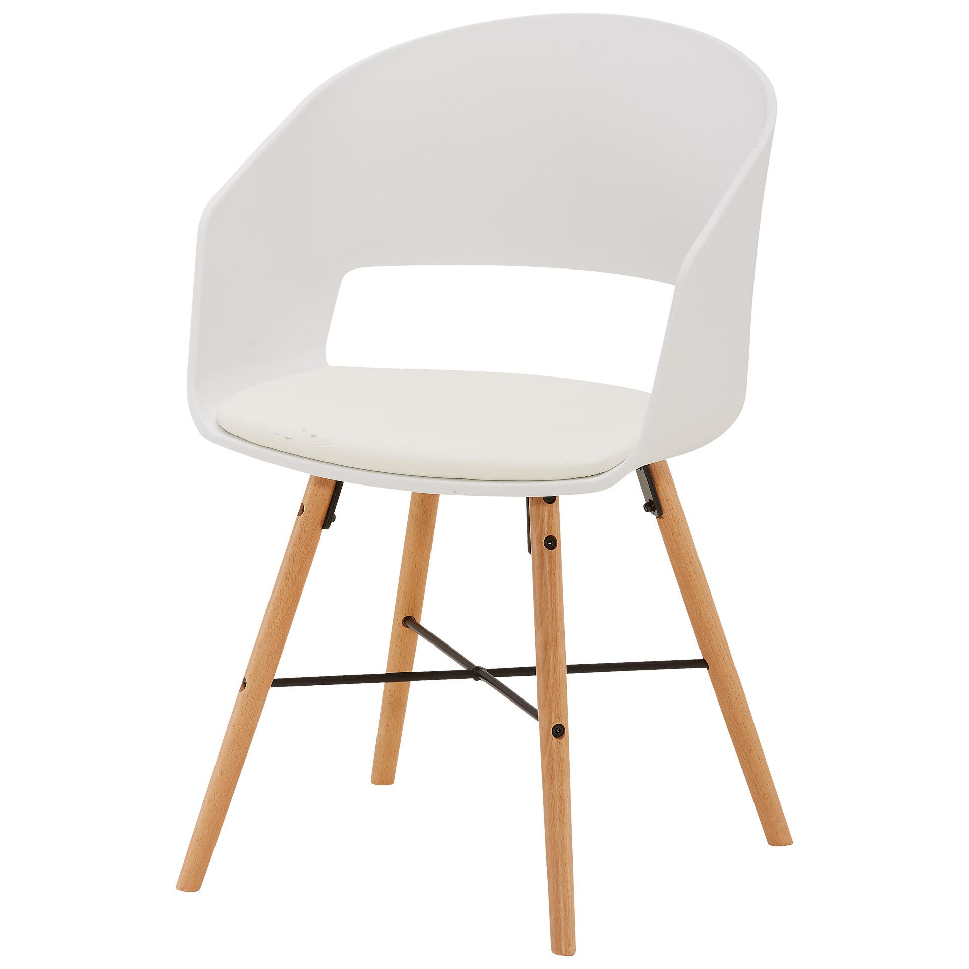 Schalenstuhl Suldrup (Sitzkissen, weiß)