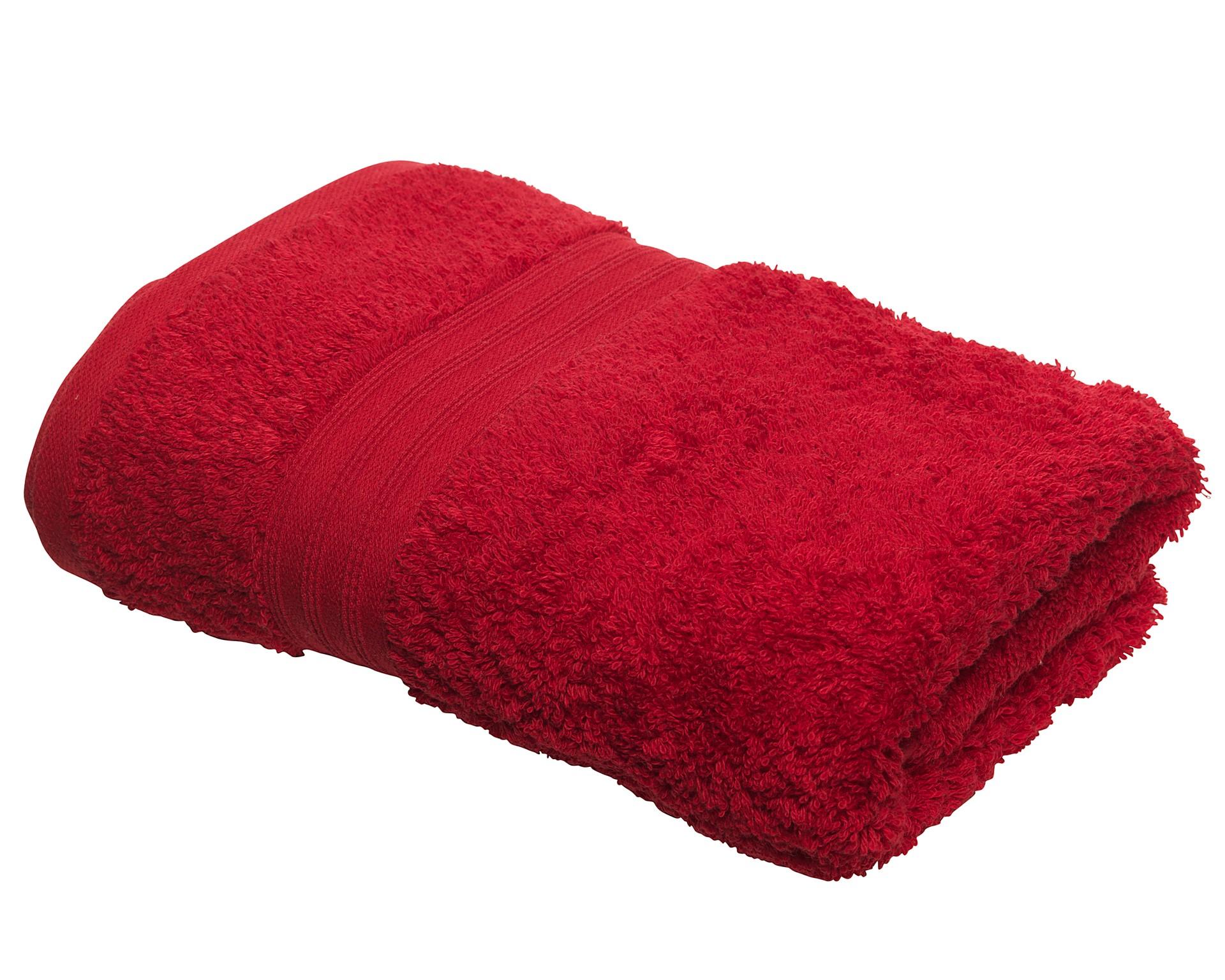 Handtuch KRONBORG® Elegance (50x100, bordeaux)
