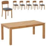 Essgruppe Royal Borg/Solbjerg (90x180, 6 Stühle, grau)