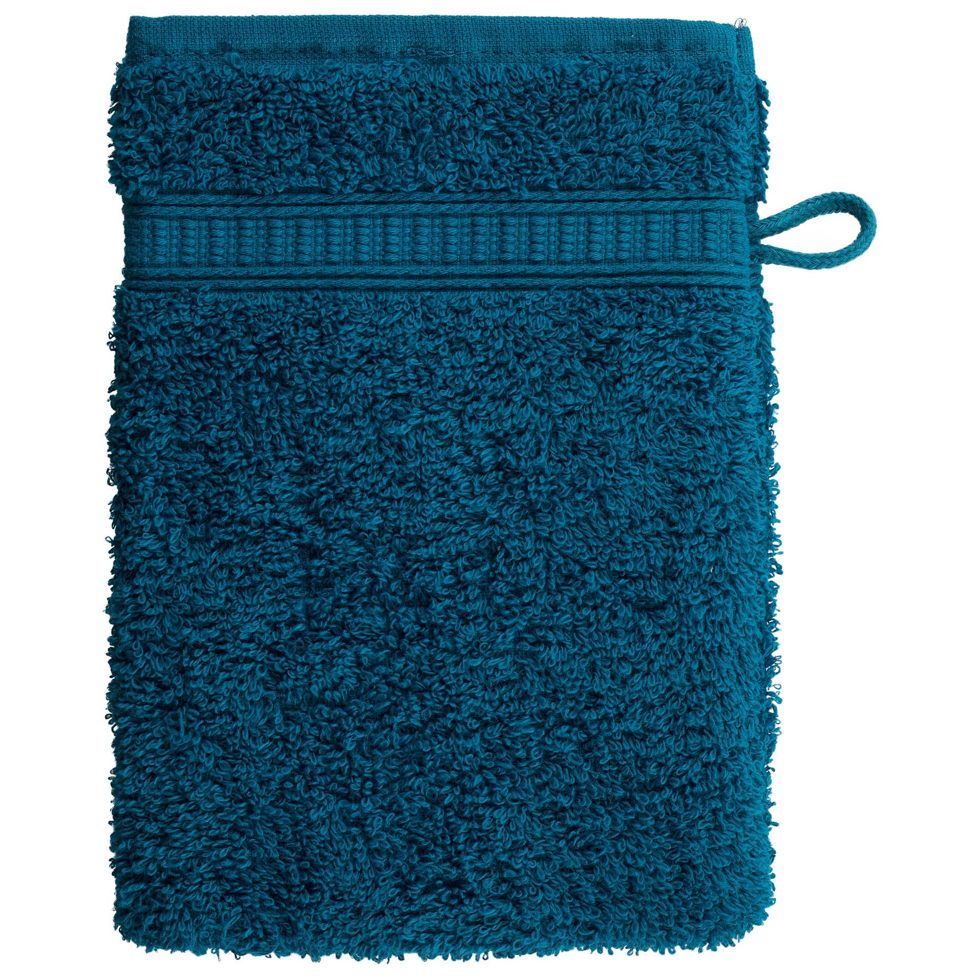 Waschhandschuh KRONBORG® de Luxe (16x21, petrol)