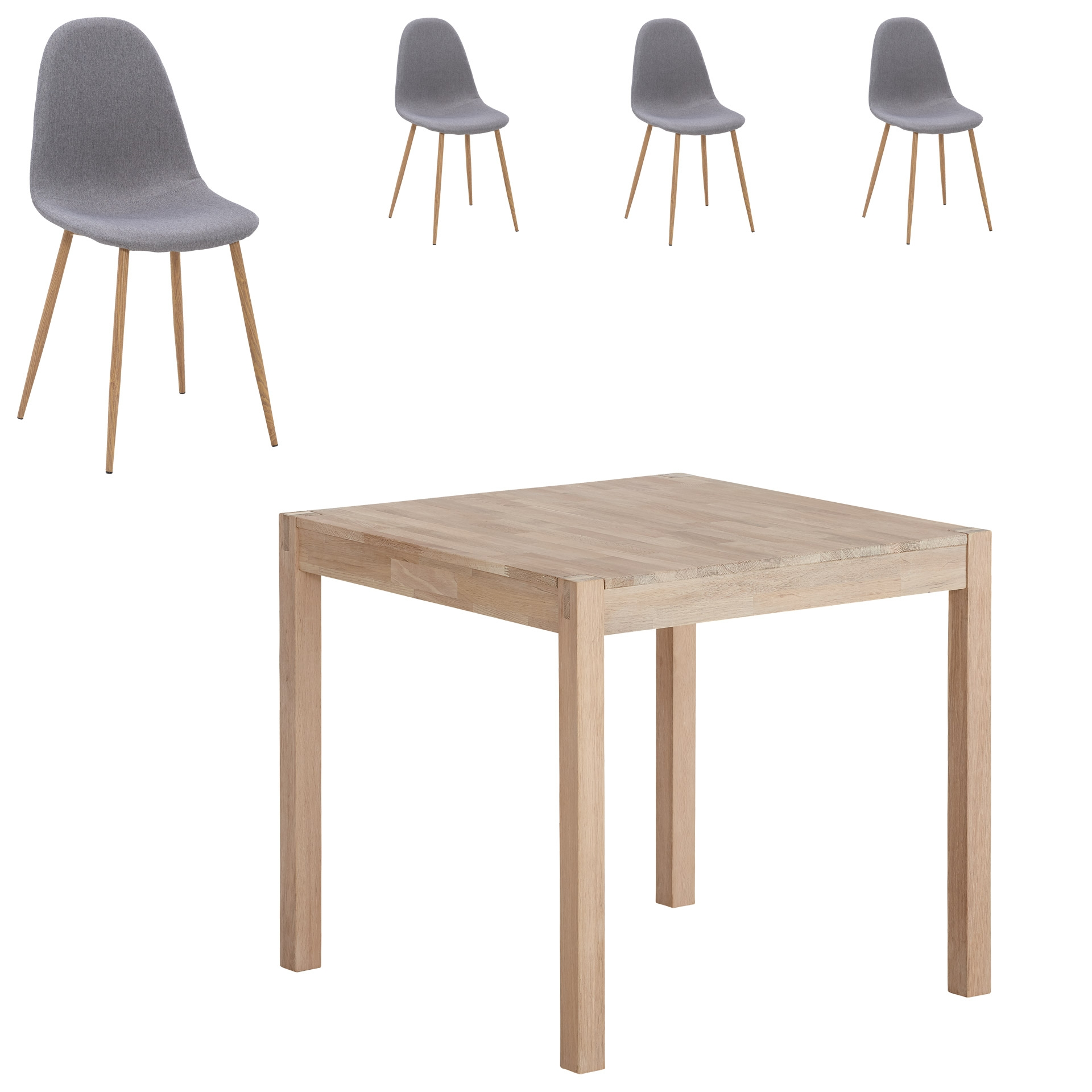Essgruppe Ascona/Tinglev (80x80, 4 Stühle)