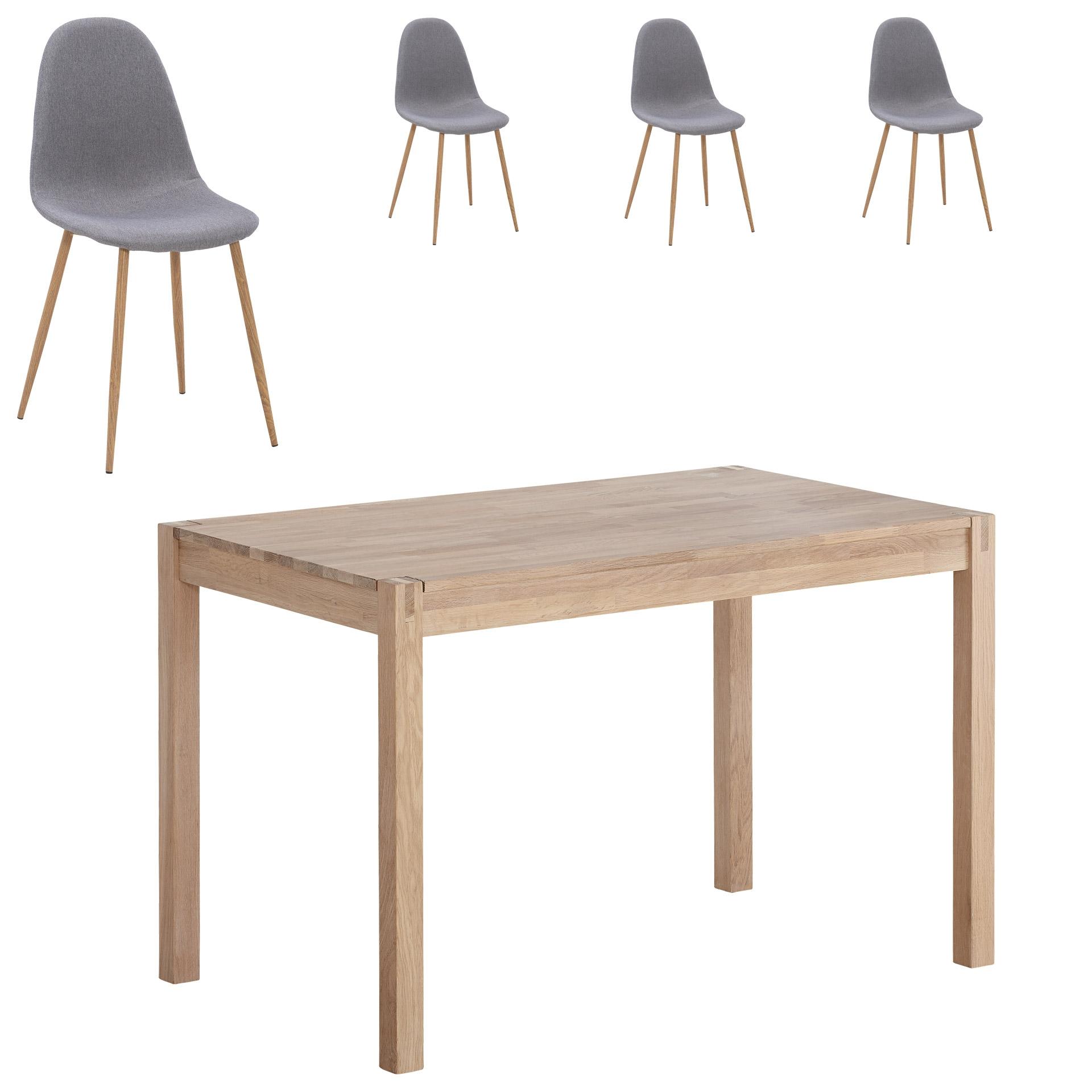 Essgruppe Ascona/Tinglev (70x115, 4 Stühle)