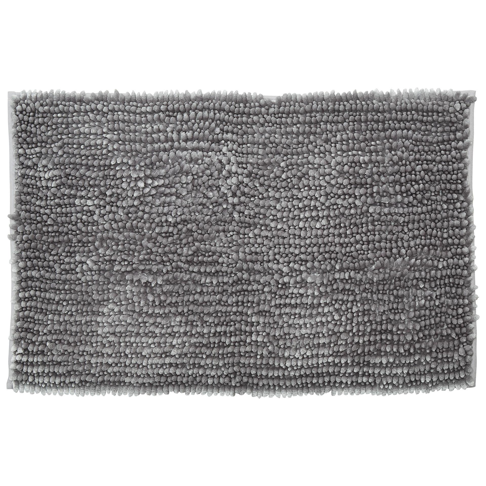 Luxus-Chenille Badematte (50x80, hellgrau)