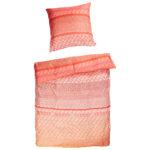 Microfaser-Bettwäsche Sunset (135x200, rot-pink)