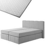 Boxspringbett-Set SUPERDREAM Kolding/ErgoMAXX® Gel Touch® Visko-Gelschaum-Topper (180x200)