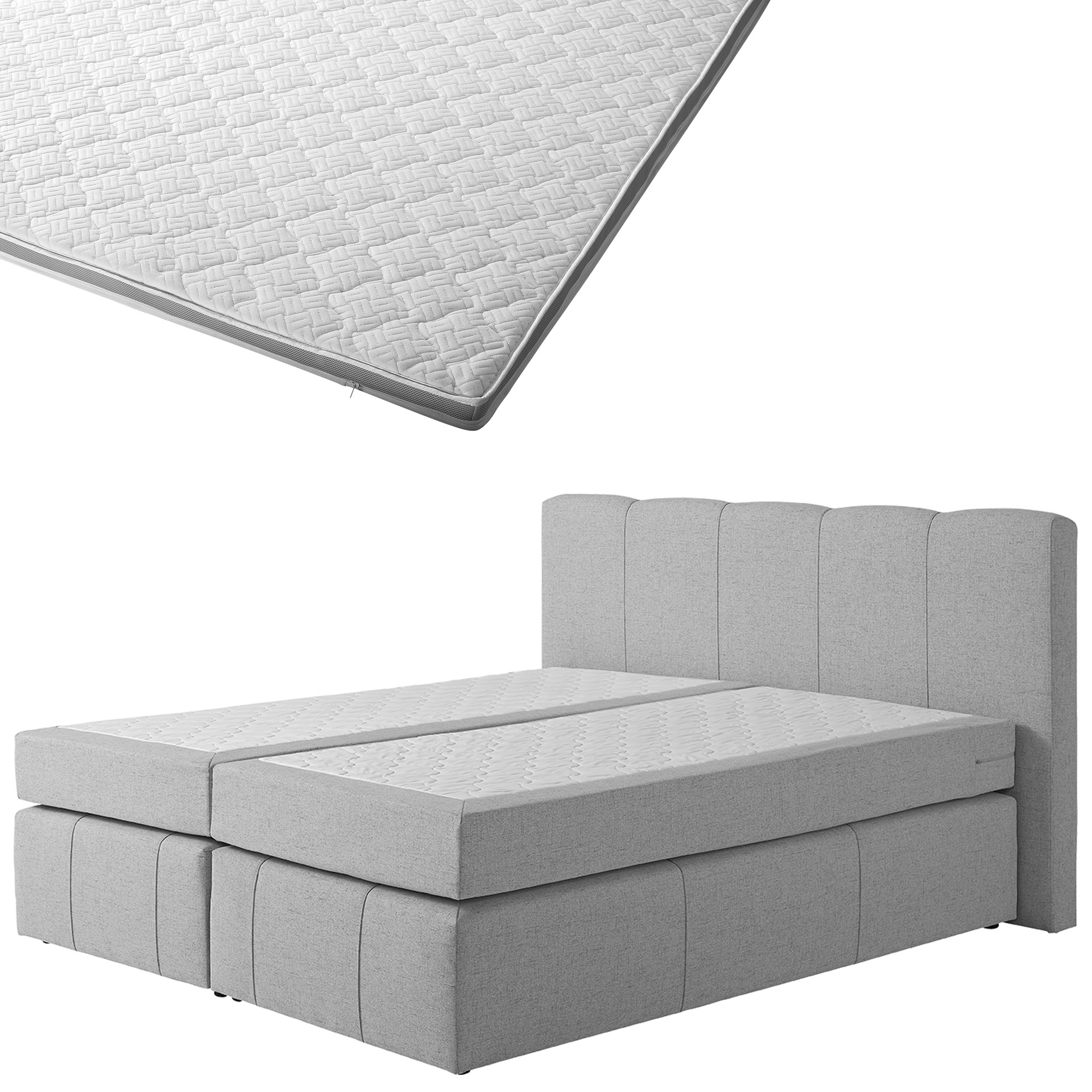 Boxspringbett-Set SUPERDREAM Kolding/ErgoMAXX® Gel Touch® Visko-Gelschaum-Topper (180x200)