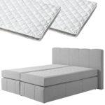 Boxspringbett-Set SUPERDREAM Kolding/ErgoMAXX® Gel Touch® Visko-Gelschaum-Topper (180x200, 2 Topper)