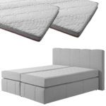 Boxspringbett-Set SUPERDREAM Kolding/SUPERDREAM Premium-Visko-Topper (180x200, 2 Topper)