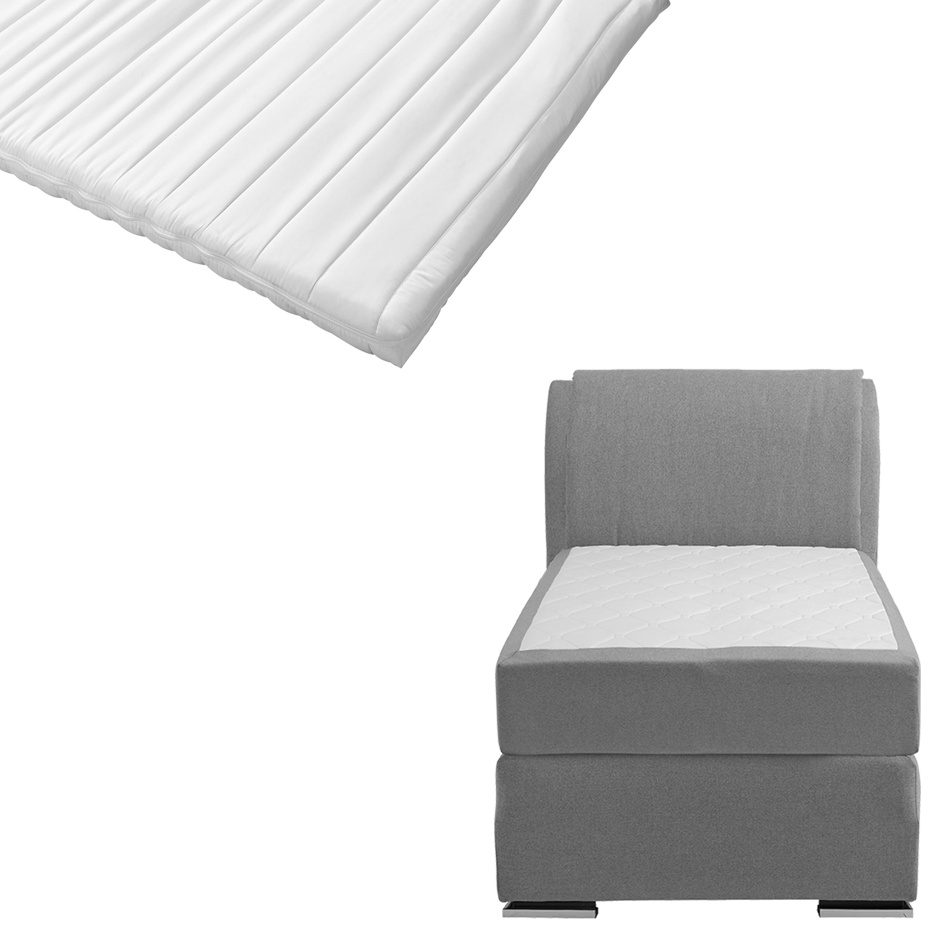Boxspringbett-Set SUPERDREAM Himmerland/ErgoMAXX® Komfortschaum-Topper Stockholm (90x200)